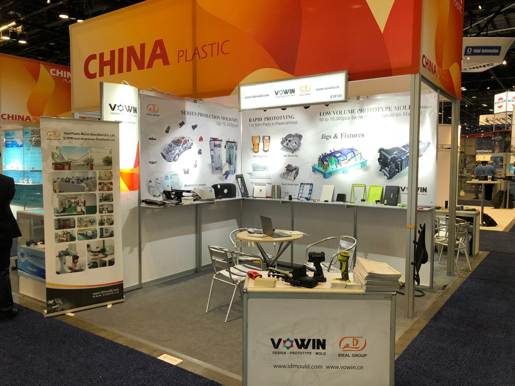 NPE Plastic injection Molding Show in USA  for plastic injection molding